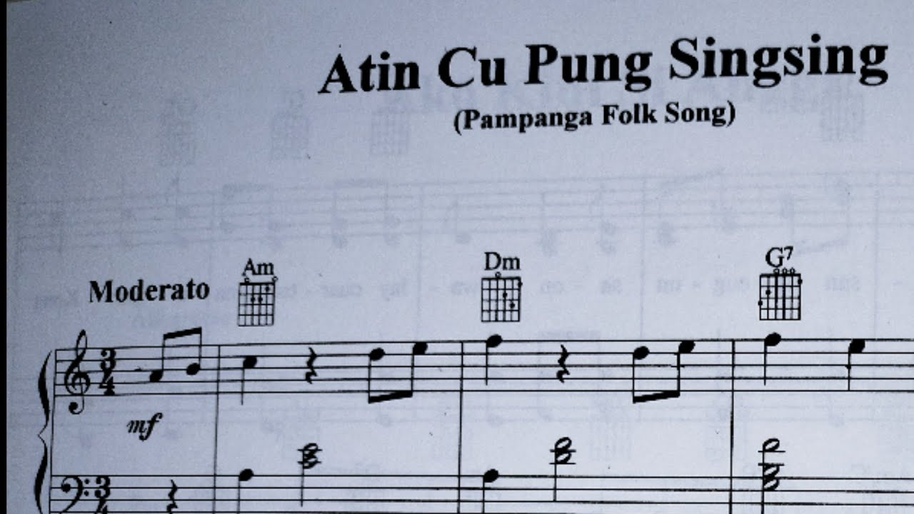 Lyrics atin cu with singsing notes pung MABUHAY SINGERS
