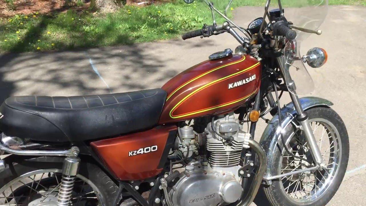 1976 Kawasaki KZ400 - YouTube