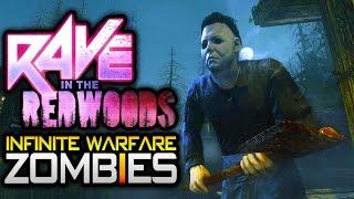 "Infinite Warfare ZOMBIES DLC 1 ""RAVE IN THE REDWOODS"" GAMEPLAY BREAKDOWN! (MICHAEL MYERS BOSS?)"