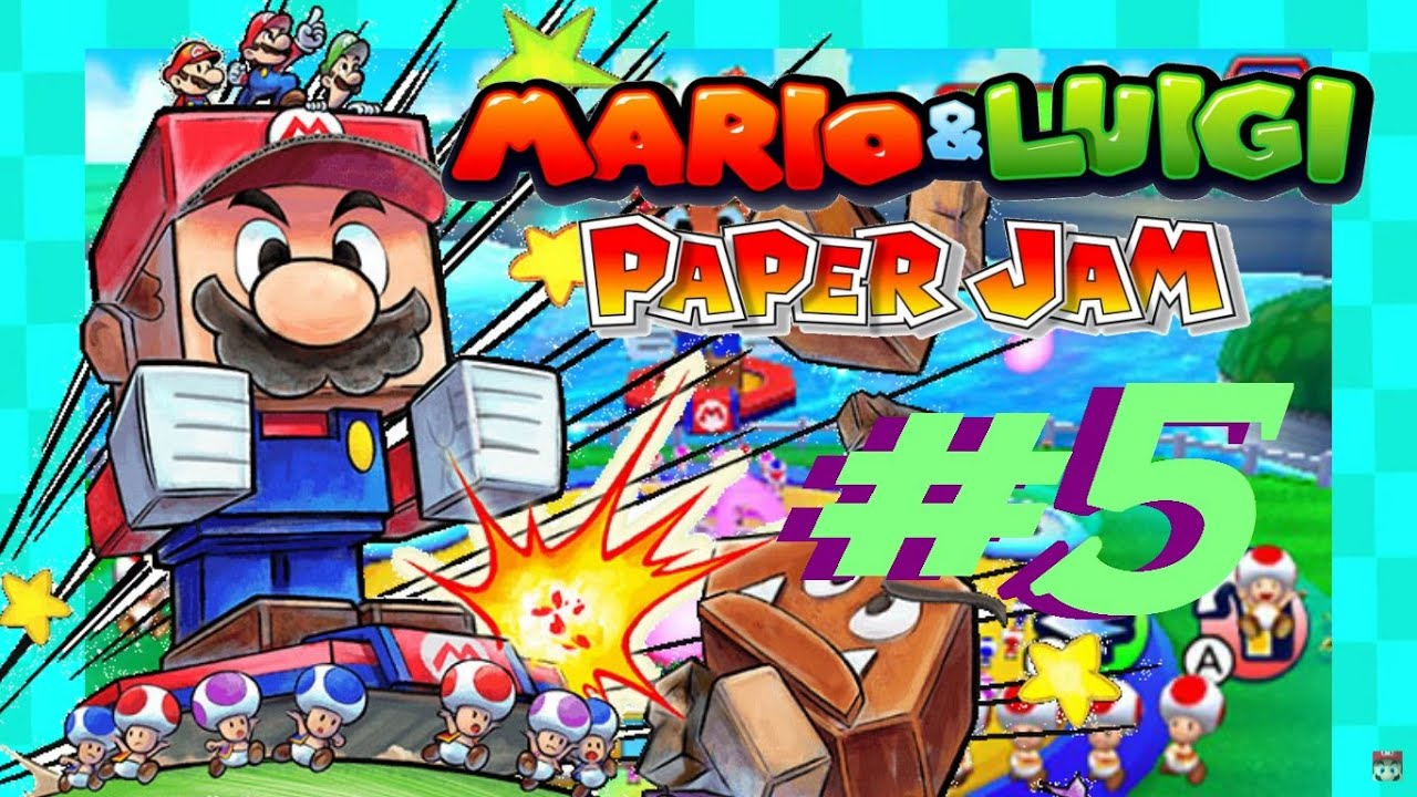 Papercraft Mario & Luigi Paper Jam 3DS PART 5 - INTRODUCING THE PAPERCRAFT!
