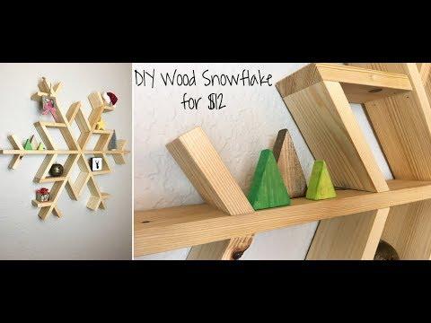 Diy Wooden Snowflake Shelf