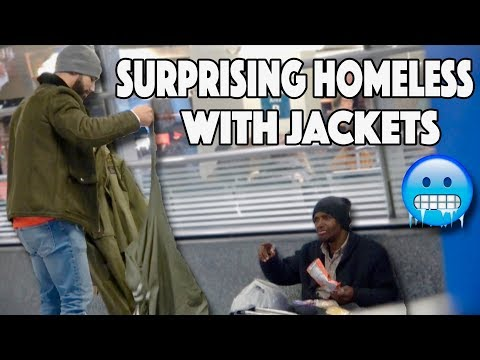 Surprising Homeless With Jackets | 30 Days of Saleh