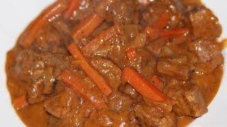 Либже - мясо тушеное по-кабардински  Пошаговый рецепт