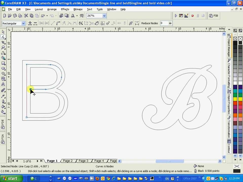 Single Line Font Coreldraw