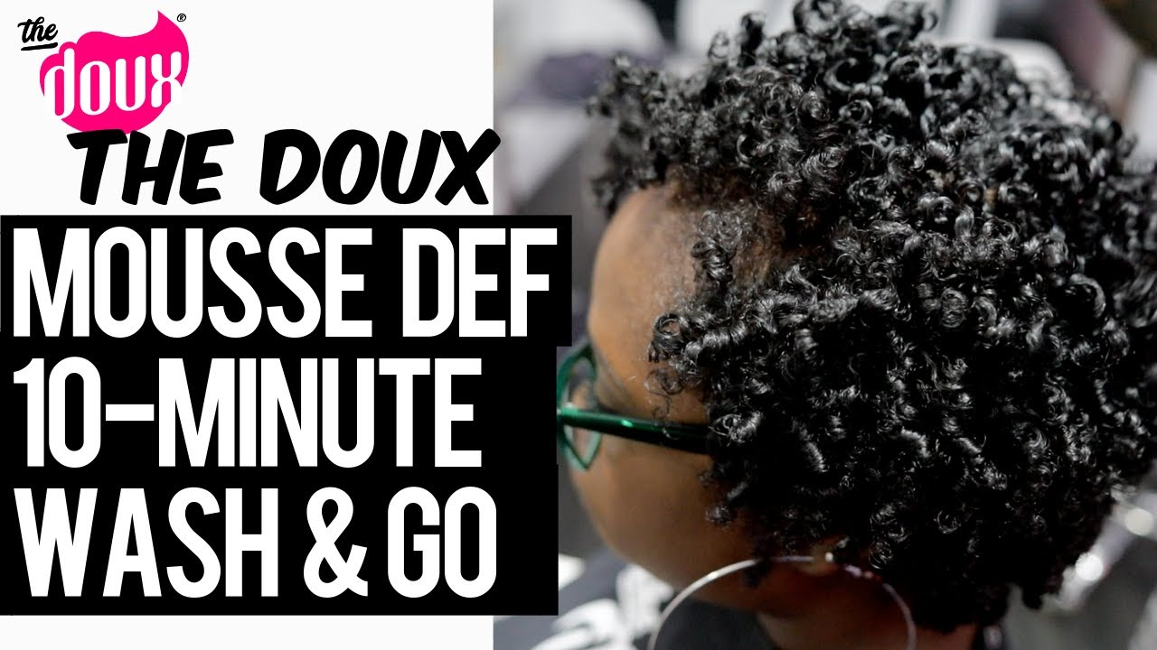 The Doux MOUSSE DEF One Product Wash and Go in 10 minutes