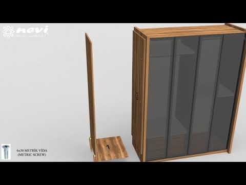 Nevi Mobilya Loft 1 Kapaklı Dolap Kurulumu