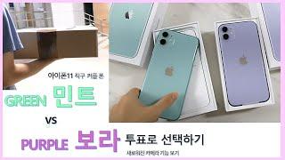 아이폰11 직구- 민트(green) vs 보라(purple) 색깔 고르기