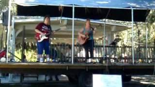 Carolyn.Dunn and Mindy Simmons singing at Oscar Scherer park November 14-09