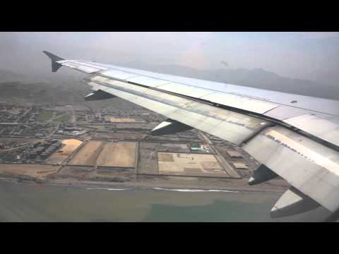 Long Approach And Landing To Lima Airport, Peru, Airbus 320, HD