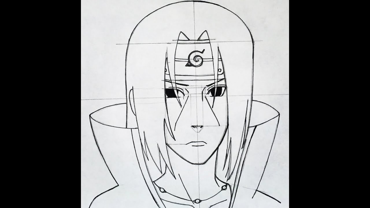 how to draw itachi uchiha