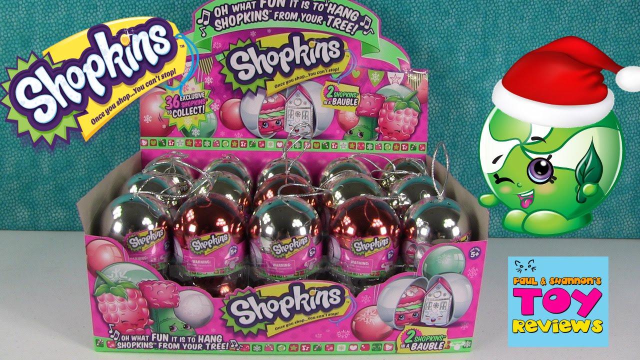 Exclusive Metallic Shopkins Christmas Baubles Ornaments Full Box ...