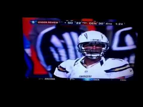 Chargers Broncos Under Review TD Catch 2012 Nov. 18