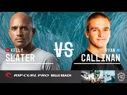 Kelly Slater vs. Ryan Callinan - Quarterfinals, Heat 1 - Rip Curl Pro Bells Beach 2019