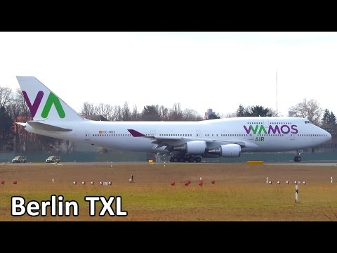1 Hour AMAZING Planespotting at Berlin Tegel Airport - Airline Variety! 747, A330, 767 and more!