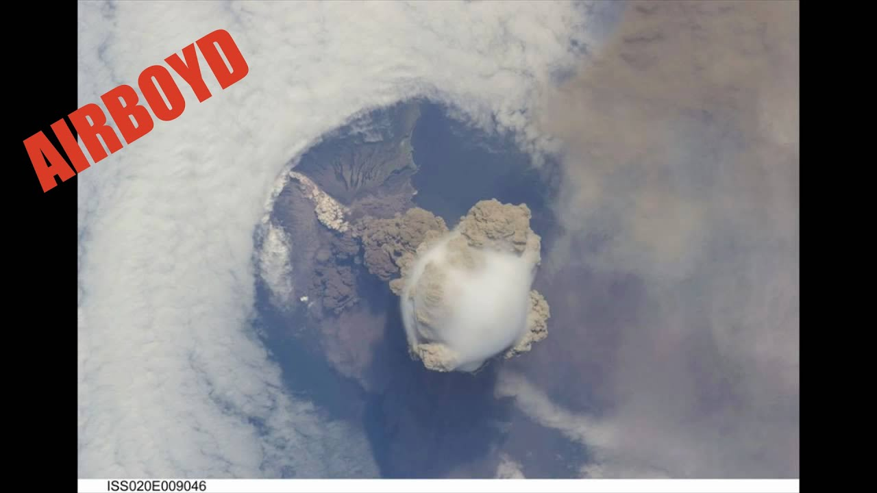 Volcano Eruption From Space As Seen From The ISS - YouTube