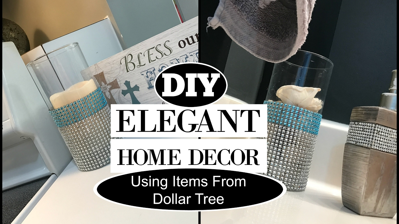Elegant home decor diy dollar tree items youtube for Bathroom decor dollar tree