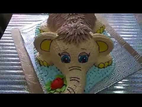 торт в виде мамонтенка рецепт и фото