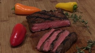 Grilled Flat Iron Steak - Lobel's New York Marinade Review