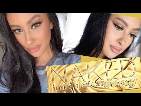NEW URBAN DECAY HONEY PALETTE  Neutral Glam  Playing with more NEW products
