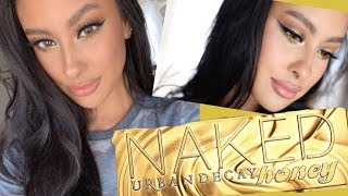 NEW URBAN DECAY HONEY PALETTE | Neutral Glam | Playing with more NEW products
