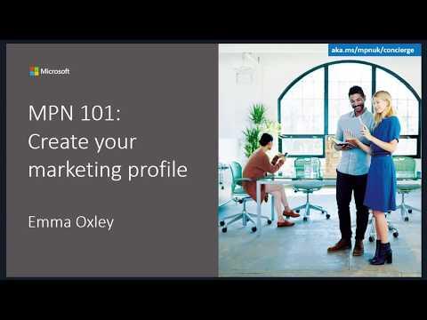 MPN 101: Create your marketing profile