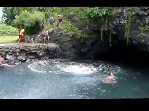 SWIMMING IN SAMOA - UPOLU WESTERN SAMOA - TO SUA (TRENCH), PIULA CAVE POOL, PAPASE'EA SLIDING ROCKS