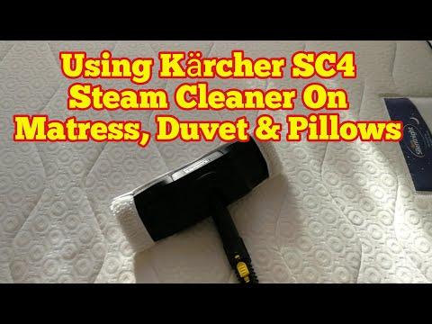 Amazing Kärcher Steam Cleaner On Mattress, Pillows And Duvet(Part 1)