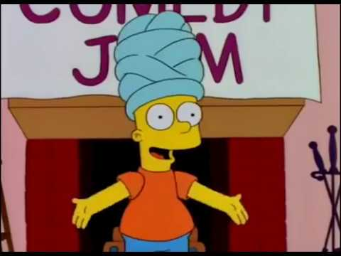 Los simpson bart imitando a marge youtube - Marge simpson et bart ...
