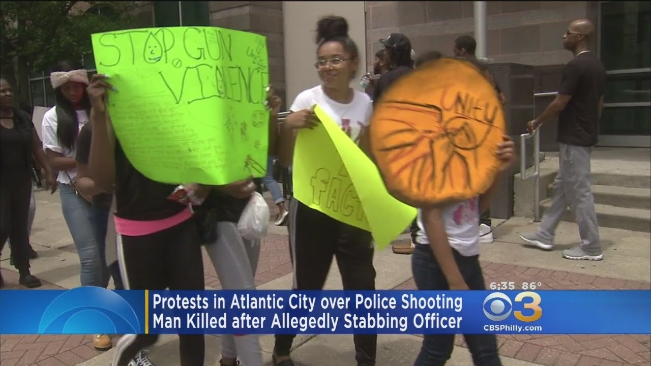 Protests In Atlantic City Over Police Shooting