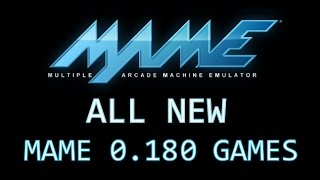 All MAME 0.180 games