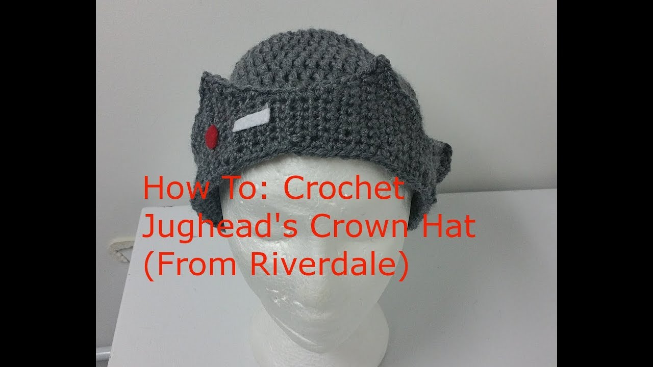 The One With How to Crochet Jughead s Crown Hat (Riverdale) - YouTube e53deb54bcc