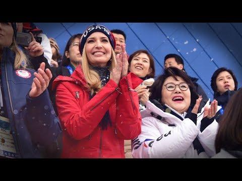 США празднуют финал зимних Олимпийских игр 2018 года в Южной Корее