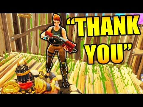 HELPING KID WIN HIS FIRST FORTNITE BATTLE ROYALE GAME!!!