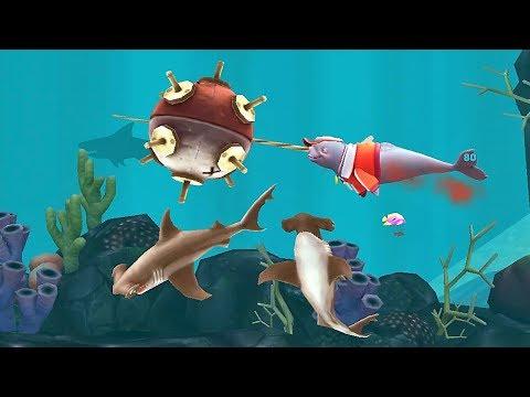 Hungry Shark Evolution  Natasha The Narwhal Android Gameplay #24