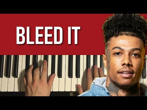 Chords for Blueface - Bleed It (Piano Tutorial Lesson)
