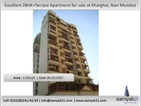 Excellent 2BHK+Terrace Apartment for sale at Kharghar, Navi Mumbai.