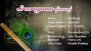 Sreeragamo cover lyrics video