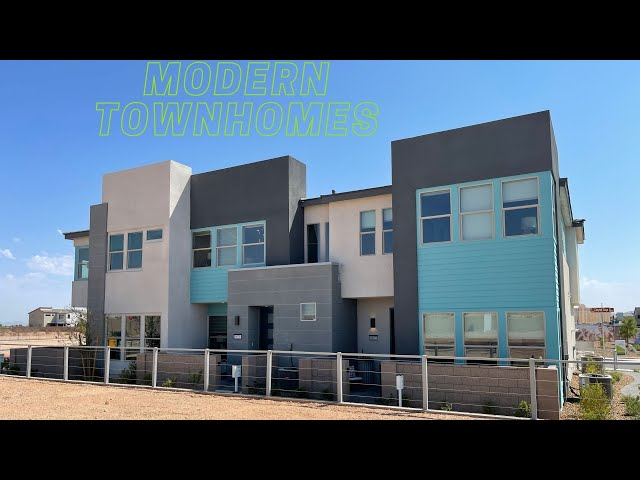 New Modern Townhomes For Sale Southwest Las Vegas | Contour by Tri Pointe Homes | $381k+ 1,750sf