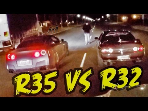 2000hp Street Race - R32 GT-R vs R35 GT-R!