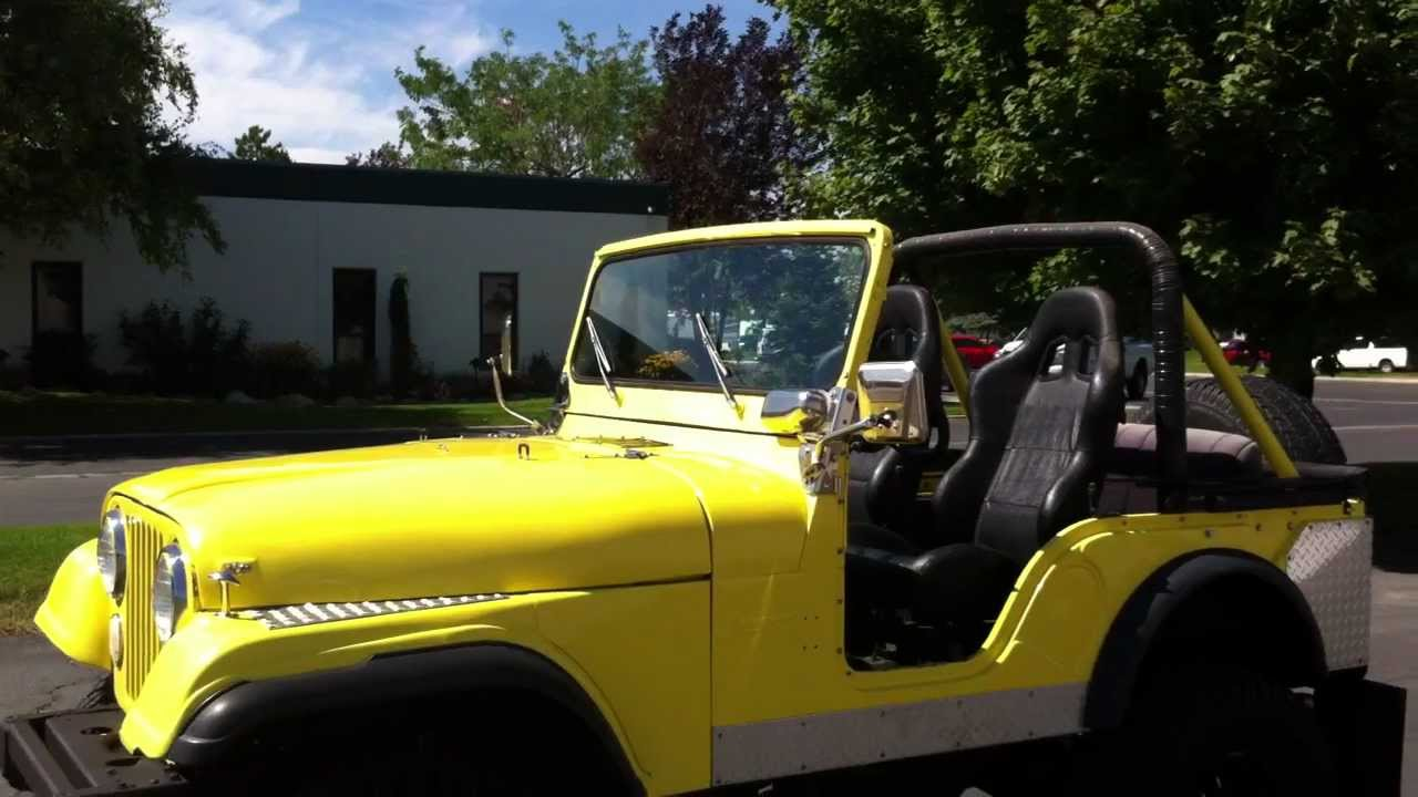 Jeep Cj5 4x4 Yellow Amp Black Lifted 33 S Clean
