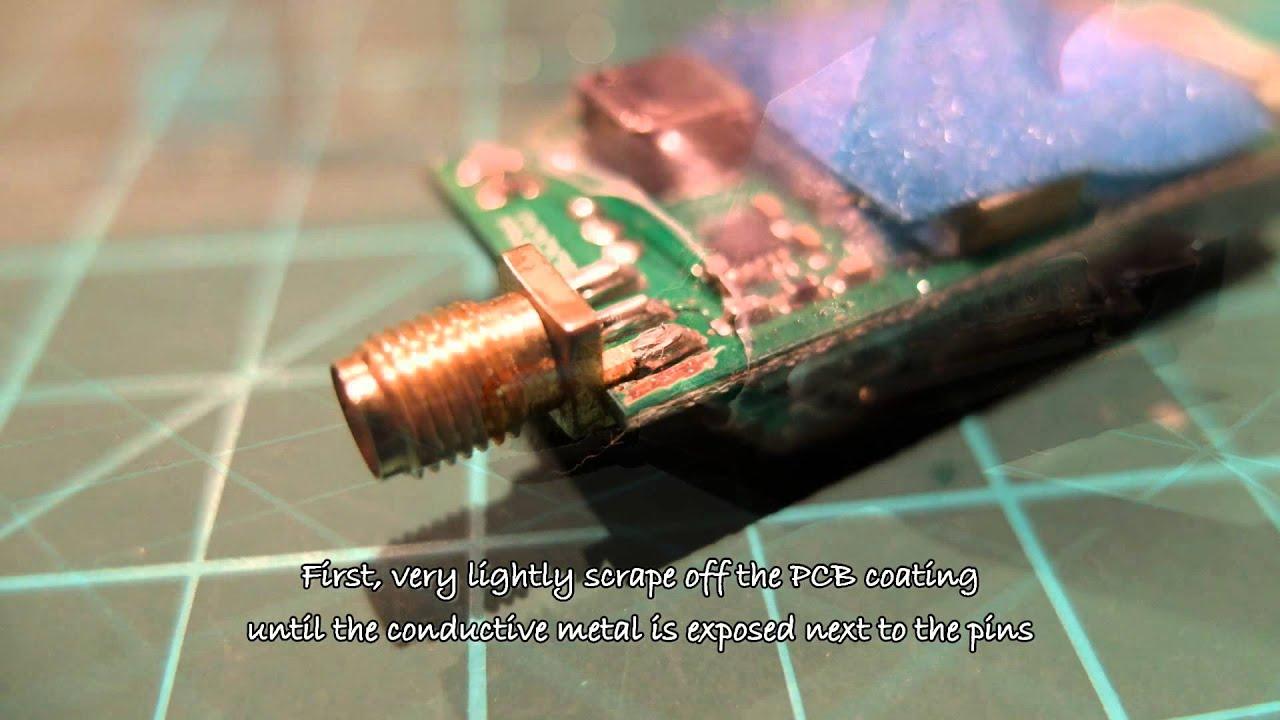 How To Repair A Broken Vtx Sma Connector Fix A Vtx