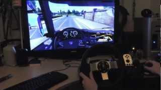 Euro Truck Simulator 2 G27 Gameplay 120 km/h + Rain! HD