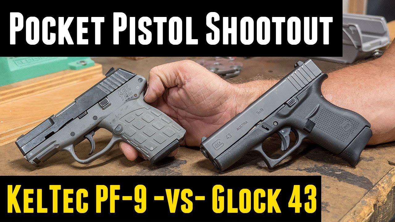 9mm Pocket Pistol Shootout: Kel-Tec PF-9 Versus Glock 43