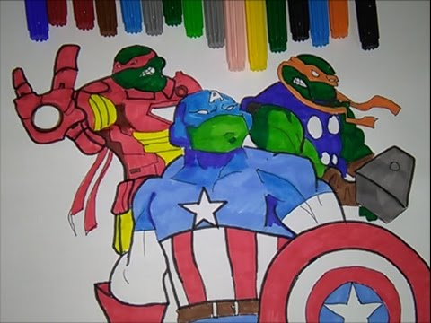 Teenage Mutant Ninja Turtles Captain America Vs Iron Man