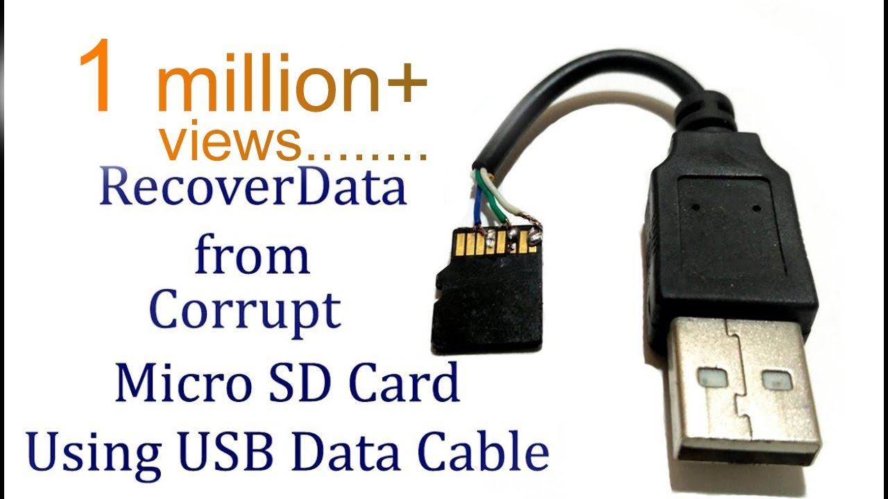 Recover Data From Sd Card Using Usb Data Cable Memory