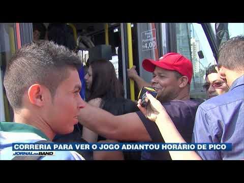 Jogo Do Brasil Adianta Horário De Pico Nas Cidades