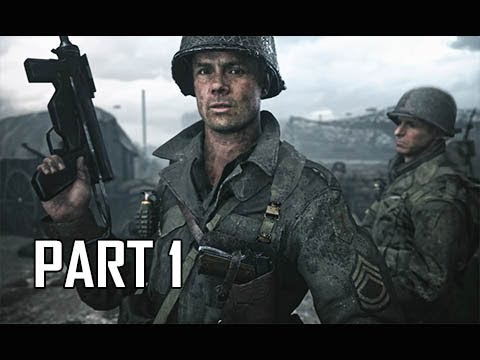 CALL OF DUTY WW2 Walkthrough Part 1 - FIRST HOUR!!!! (Campaign Story Let's Play Commentary)