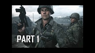 CALL OF DUTY WW2 Walkthrough Part 1 - FIRST HOUR!!!! (Campaign Story Let