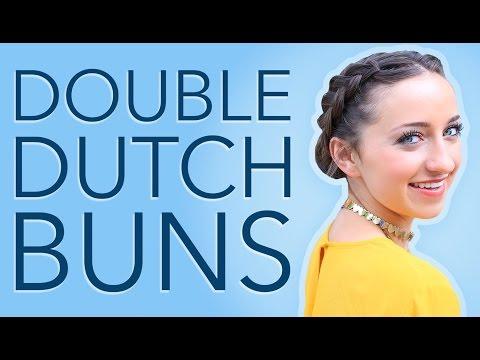 Bailey's Double Dutch Buns Hair Tutorial | Hairstyles for Short Hair