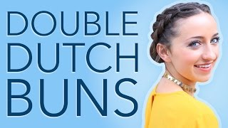 Bailey's Double Dutch Buns Hair Tutorial | Hairstyles for Short Hair